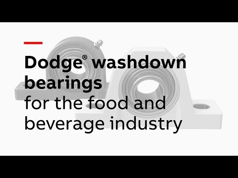 Dodge washdown bearings for the food and beverage industry