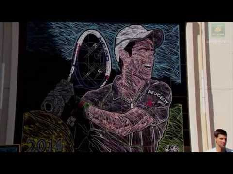 2015 Novak Djokovic Unveils Mural