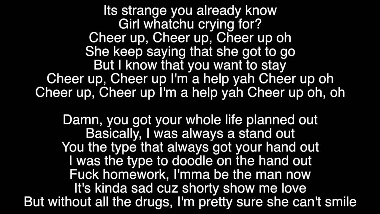 Cheer Up By Skizzy Mars Lyrics Video Youtube