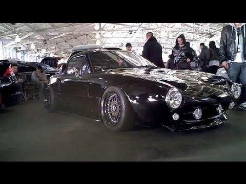 Mazda Miata with PitCrew frontend conversion on BBS RM's (2012 SF Wekfest)