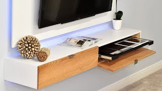 How To Make A Wall Mounted Entertainment Center / TV Stand