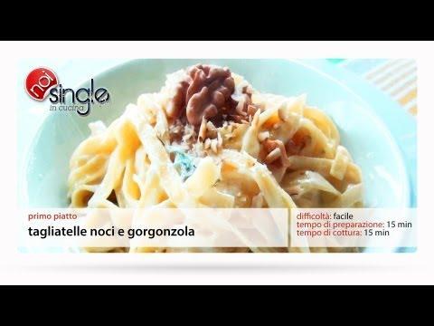 Tagliatelle noci e gorgonzola