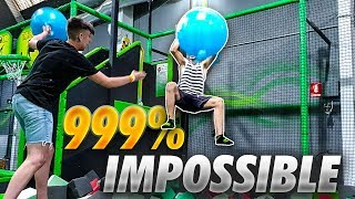 PARKOUR DE FORTNITE IN REAL LIFE **IN A PARK OF TRAMPOLINES** [CHULIN]