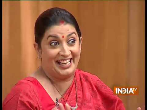 What was Smriti Irani's barter deal with her father