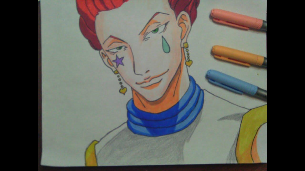 Dibujando a Hisoka Hunter X Hunter. Speed Drawing. - YouTube