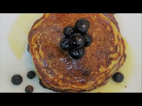 Delicious Gluten Free , Fat Free, Dairy Free Fluffy Blueberry Pancakes
