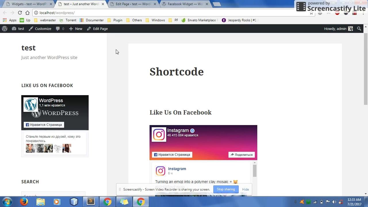 Widget for Social Page Feeds – WordPress plugin   WordPress org