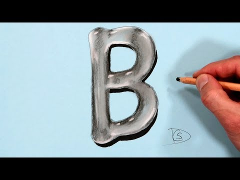 how-to-draw-a-letter-b-in-water-with-dry-pastel-pencils