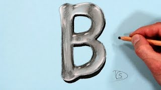 How to Draw a Letter B in Water With Dry Pastel pencils