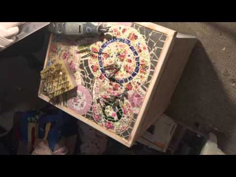 How to re-make a broken china mosaic vanity - Part 9