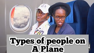 Different types of people on a plane (Maraji)