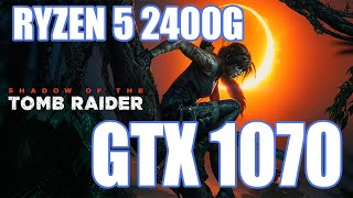 Shadow of the Tomb Raider Full HD Ryzen 5 2400g + GTX 1070 + 8GB RAM