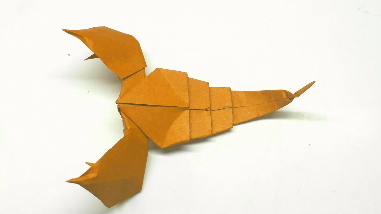 easy origami tutorial how to make an origami scorpion youtube how to make a origami scorpion origami dragon diagram click to view [ 1280 x 720 Pixel ]