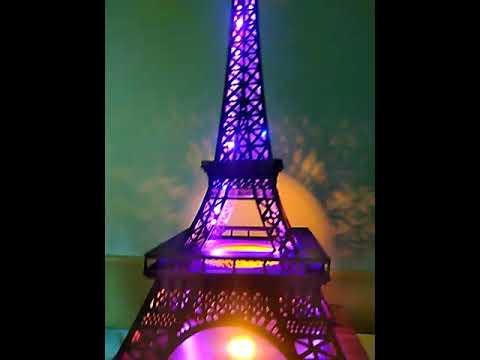 Homemade beautyfull Eiffeltower with ledlight
