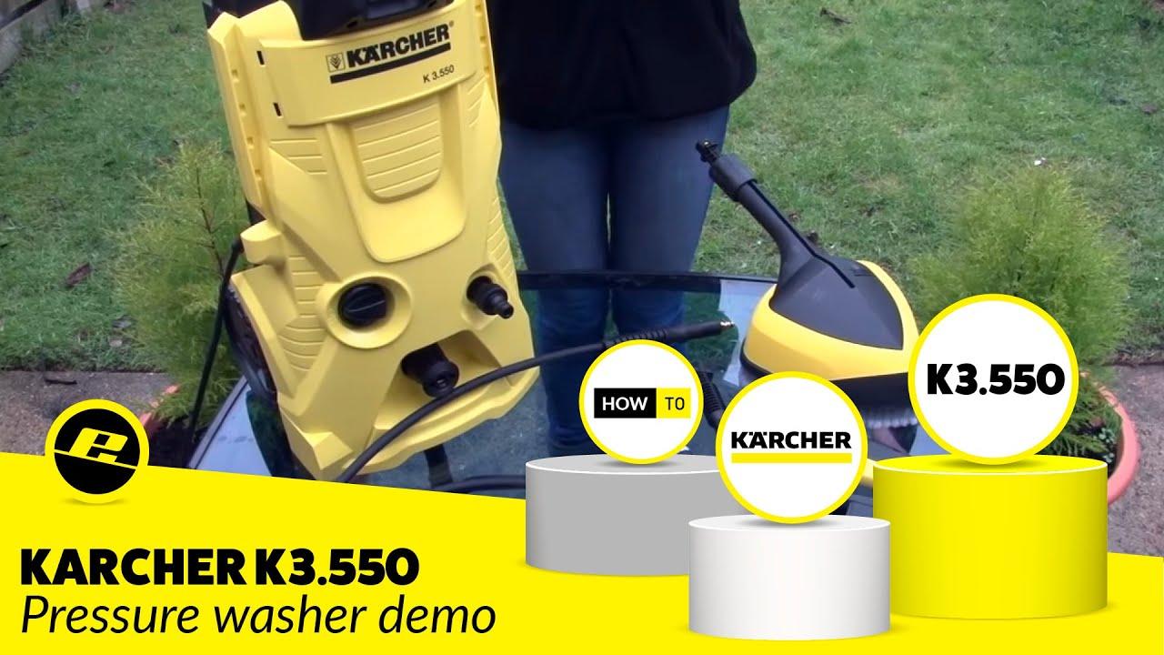 Karcher K3 550 Pressure Washer Demo Youtube