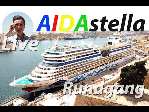 AIDAstella 2h LIVE Rundgang (2017) 🛳️ Von Pool bis Restaurants Highlights ungeschnitten Schiffstour
