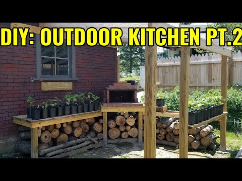 DIY: Outdoor Kitchen Pt.2 (Counter Tops & Pizza Oven $80)