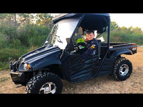VLOG Ali Yeni UTV çamurda Sürüyor - Little Driver Ride On Car OFF ROAD