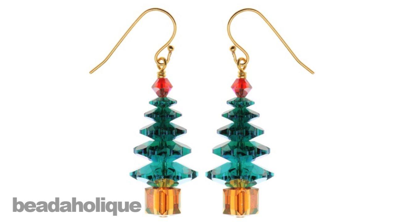 instructions for making the rockefeller christmas tree earring kit