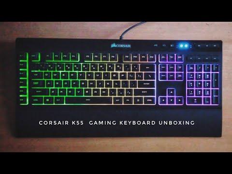 Corsair K55 Gaming Keyboard Unboxing   Timelapse   VOID AsH YT