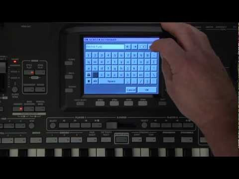 Korg Pa3X Video Manual Part 6- SongBook