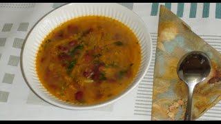 Питательный  суп с красной фасоли. Диета