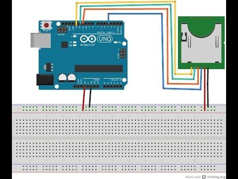 Подключение модуля Micro SD Card к Arduino. Запись значений в файл