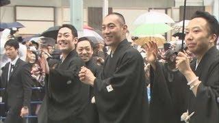 華やかに銀座をお練り 歌舞伎座開場記念で thumbnail