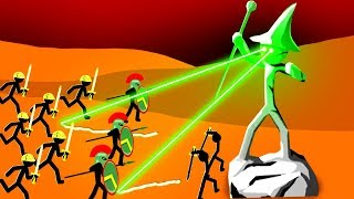 Crazy Stickman Laser Statues Defend the Enemy Base in Stick War Legacy!