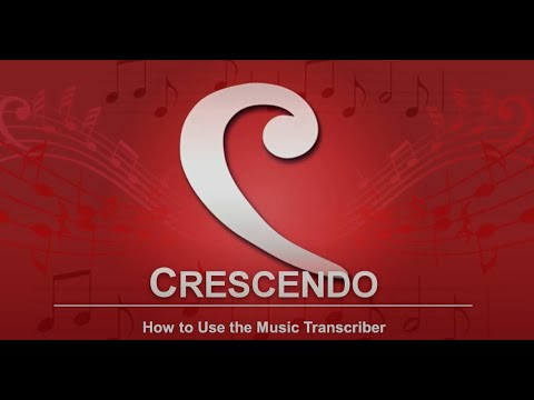Download How to Use the Music Transcriber   Crescendo Music Notation Tutorial