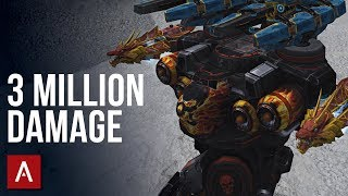CRAZY 3 MILLION DAMAGE Beacon Rush Game | War Robots Gameplay