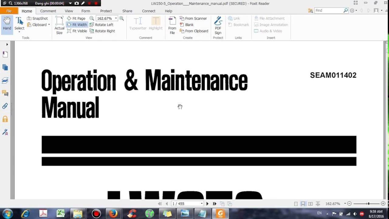komatsu lw250 5 operation maintenance manual dhtauto com youtube rh youtube com komatsu forklift operation maintenance manual Operation and Maintenance Manual Folder