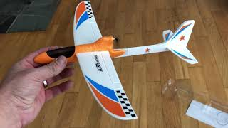 WISH Falcon Electric foam toy glider Review