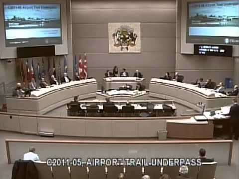 YYCCC 2011-02-07 Calgary City Council - Airport Underpass -