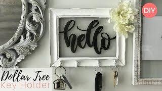 Key Holder DIY | DOLLAR TREE DIY | Ashleigh Lauren Tutorials | Shabby Chic