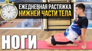 Растяжка ног на каждый день. Тренировка в реальном времени №2