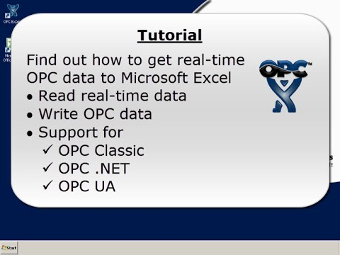 OPC to Excel - download for free: OPC Expert