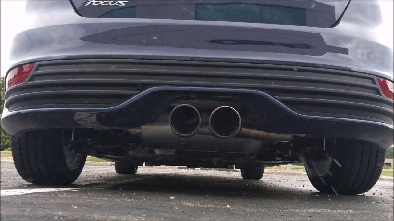 focus st stock exhaust vs borla before after