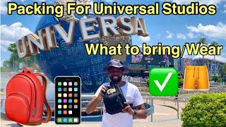 What to Pack For a Day at Universal Studios 2021!