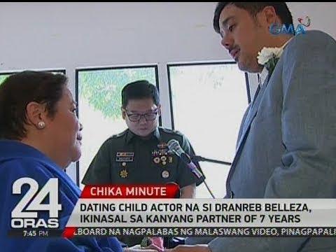 24 Oras: Dating child actor na si Dranreb Belleza, ikinasal sa kanyang partner of 7 years
