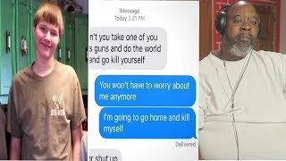 Dad Reacts to This boy killed himself because of this text. When I saw what it read...