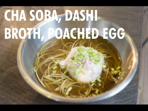 Cha Soba, Dashi, Poached Egg by The Fat Kid Inside