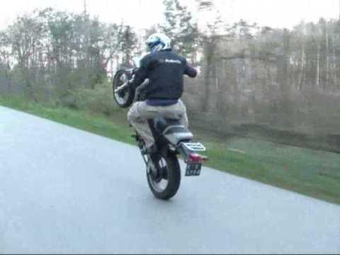 wheelie on dr 650