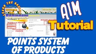 POINTS SYSTEM OF PRODUCTS -AIM GLOBAL (TAGALOG)