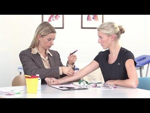 Ablauf einer Blutkontrolle (Dopingkontrollfilm der NADA)