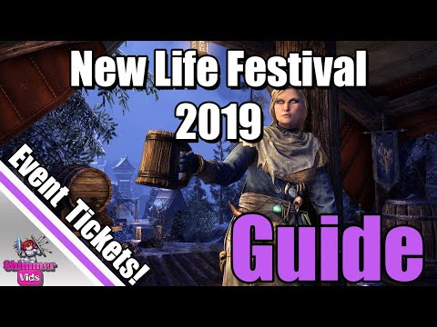 ESO: New Life Festival 2019 Complete Guide!  Crystalfrost Skin - Event Tickets!