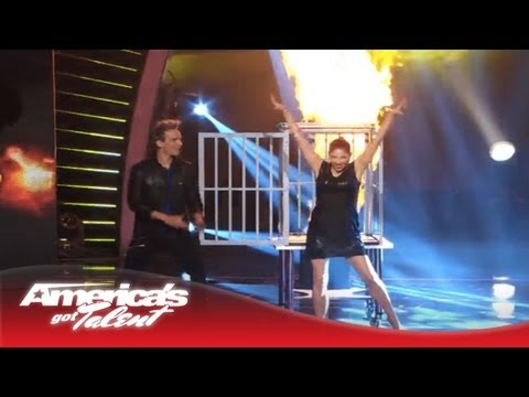 Illusionist Leon Etienne & Romy Low - Make Girls Appear and Disappear - America's Got Talent 2013