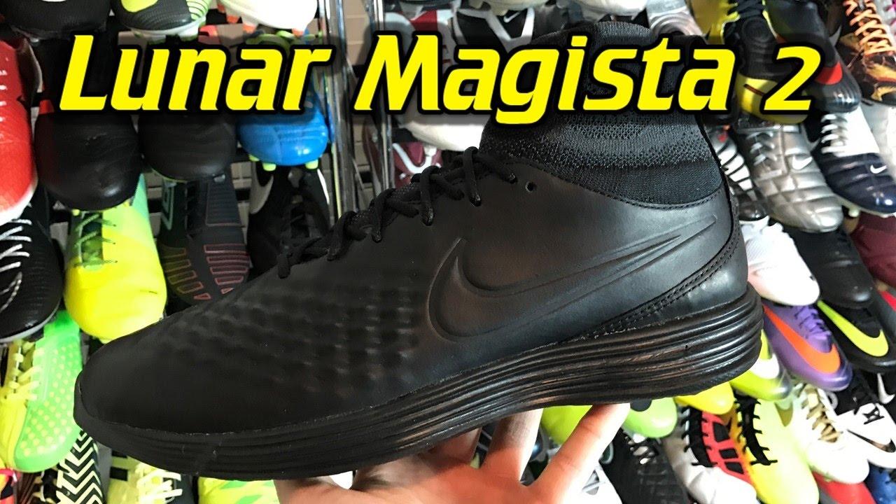 Nike Lunar Magista 2 (Blackout) - One Take Review + On Feet - YouTube 39c8bbc90