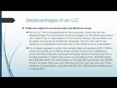 Some Known Facts About Disadvantages Of Llc.