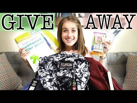 BACK TO SCHOOL SUPPLIES GIVEAWAY 2018
